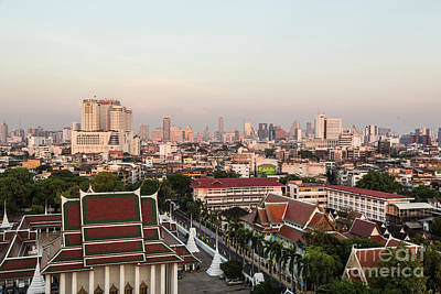 Photograph - Sunset Over Bangkok by Didier Marti