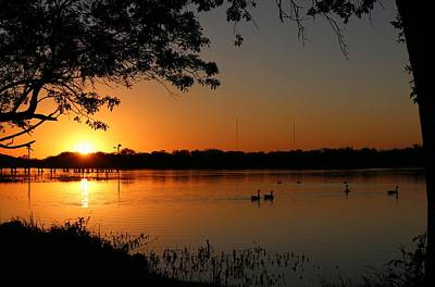 Photograph - Sunset Over Inks Lake  by Christy Pooschke