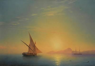 Sunset Painting - Sunset Over Ischia by Ivan Konstantinovich