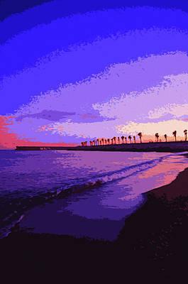 Painting - Sunset Over Malaga, Costa Del Sol - 6 by Andrea Mazzocchetti