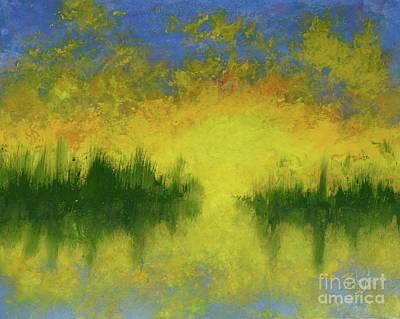Painting - Sunset Over Marsh by Barrie Stark