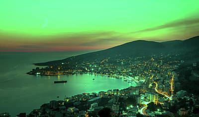 Photograph - Sunset Over Sarande Albania by Unsplash