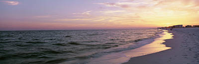 Pensacola Photograph - Sunset Over The Ocean, Gulf Of Mexico by Panoramic Images