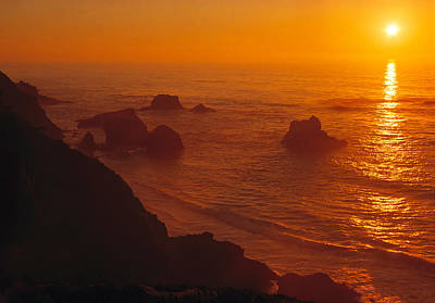 Wilderness Camping - Sunset over the Pacific Ocean by Douglas Pulsipher