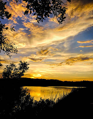 Photograph - Sunset Over The Pond by Terry Shoemaker