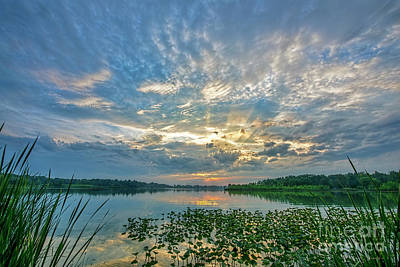 Photograph - Sunset Over Water by David Arment