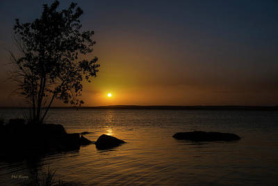 Photograph - Sunset Over Wilson Lake by Philip Rispin