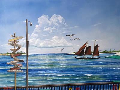 Painting - Schooner Jolly II Key West Florida by Lloyd Dobson