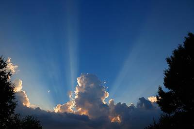Photograph - Sunset Rays by Kathryn Meyer