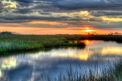 Photograph - Sunset Reflections by Richard Zentner