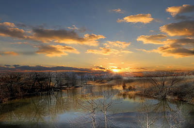Rowing Royalty Free Images - SunSet Reflections Royalty-Free Image by Theresa Campbell