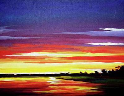 Painting - Sunset River by Samiran Sarkar