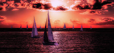 Photograph - Sunset Sail by Gerhard Gellinger