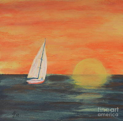 Painting - Sunset Sailing by Christiane Schulze Art And Photography