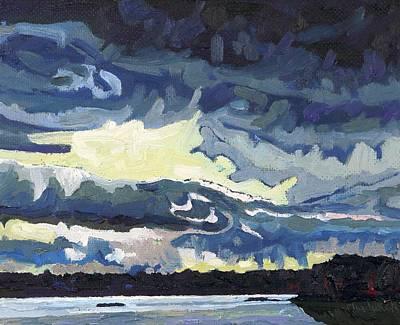 Sunset Showers Original by Phil Chadwick
