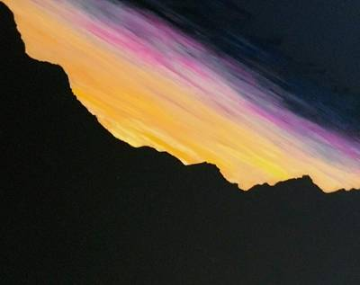Painting - Sunset Silhouette by Kevin Daly