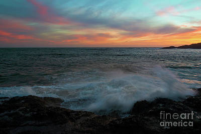 Photograph - Sunset Spray by Mike Dawson