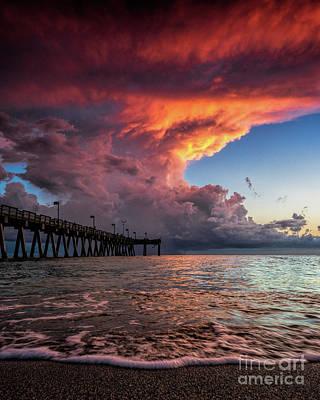 Photograph - Sunset Venice Pier by Damon Powers
