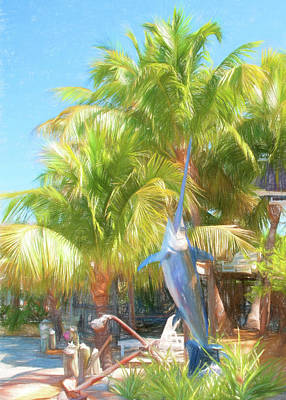 Photograph - Sunset Villas Billfish by Ginger Wakem