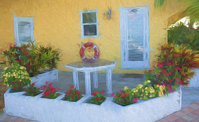 Photograph - Sunset Villas Patio by Ginger Wakem
