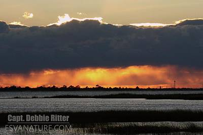 Photograph - Sunset Wallops 4361 by Captain Debbie Ritter