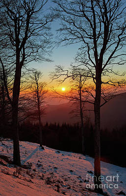 Photograph - Sunset With Sun In The Frame by Catalin Petolea