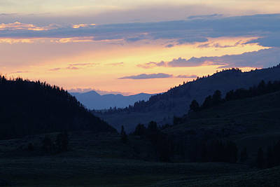 Photograph - Sunset Yellowstone Usa by Bob Savage