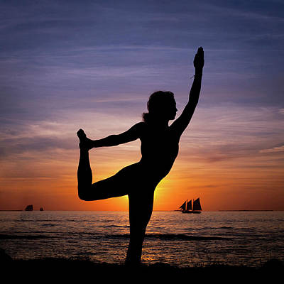 Photograph - Sunset Yoga by Scott Meyer
