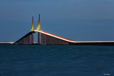 Photograph - Sunshine Skyway Bridge by Fran Gallogly
