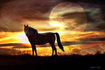 Fantasy Surreal Horse Photograph - Sunstorm by Stephanie Laird