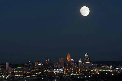Photograph - Super Moon Cincinnati 2016 by Randall Branham