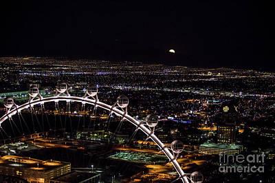 Super Moon In Las Vegas Art Print