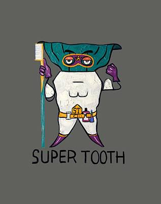 Baby Digital Art - Super Tooth by Anthony Falbo