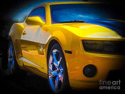Tricked-out Cars Photograph - Superman Camaro by Chuck Re