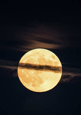 Photograph - Supermoon by Michael Nowotny