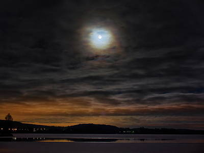 Photograph - Supermoon With Clouds by Jouko Lehto