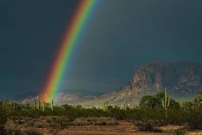 Art Print featuring the photograph Superstition Rainbow  by Saija Lehtonen