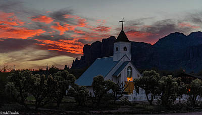 Photograph - Superstition Sunrise by Mike Ronnebeck