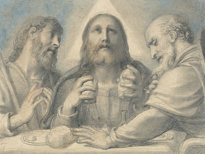 Emmaus Painting - Supper At Emmaus by Richard Cosway