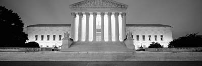 Supreme Court Building Illuminated Art Print by Panoramic Images