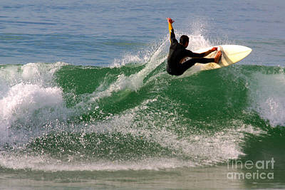 Sea Swell Photograph - Surfer by Carlos Caetano