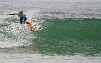Photograph - Surfer Girl Sage Erickson by Waterdancer