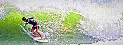 Photograph - Surfer Green by Alice Gipson