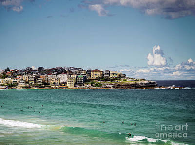 Photograph - Surfers In Famous Bondi Beach Sydney Australia On Sunny Day by Jacek Malipan