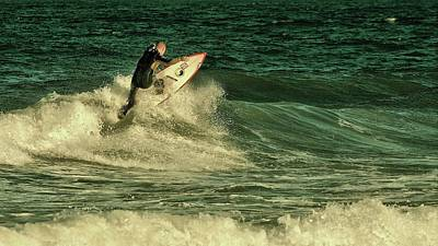 Photograph - Surfing - Jersey Shore by Angie Tirado