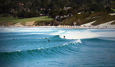 Photograph - Surfing Carmel Beach by Joyce Dickens