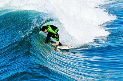 Photograph - Surfing In California by Ben Graham