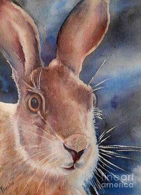 March Hare Painting - Surprise by Patricia Pushaw