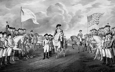 Patriotism Painting - Surrender Of Lord Cornwallis At Yorktown by War Is Hell Store