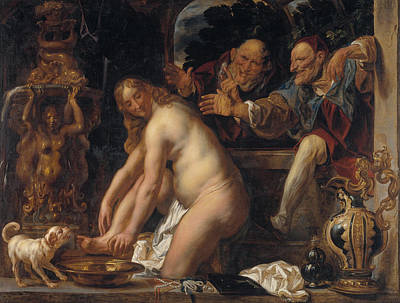 Christianity Painting - Susanna And The Elders by Jacob Jordaens